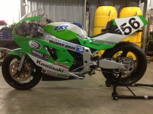 Kawasaki ZXR750 H2 race bike