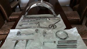 Honda SS50 chrome plated parts