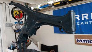 restored Honda SS50 frame