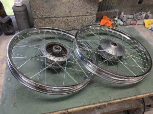 Honda SS50 wheels