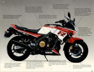 Yamaha FZ750 brochure