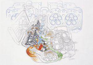 world's first 5-valve dual cam engine