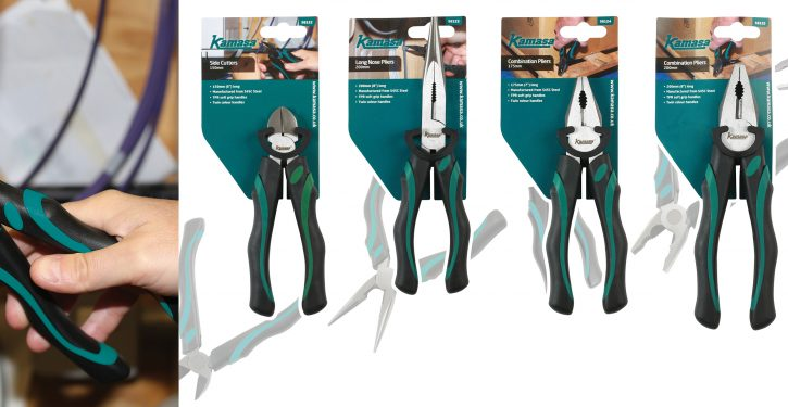 New range of pliers and side cutters from Kamasa Tools