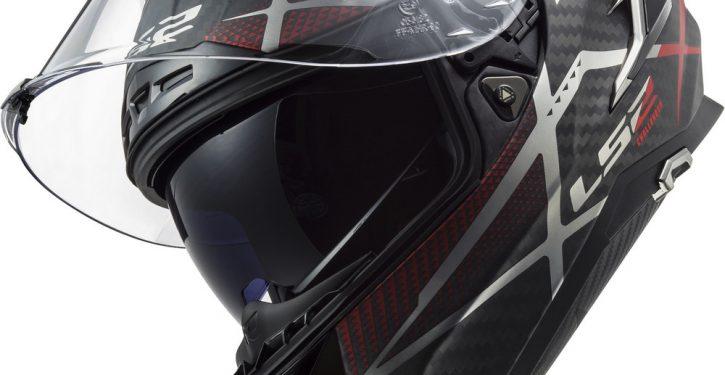 LS2 Carbon helmet in colour