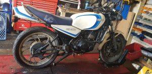 1980 Yamaha RD350LC 4L0 restoration commences