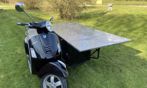Watsonian one-off Vespa table sidecar
