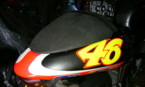 Aprilia RS125 rear seat hump