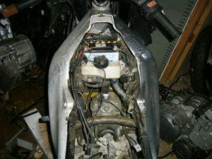 Aprilia RS125 aluminium frame