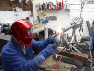 New 'Flashdance' mask proves a sensible purchase as fuel tank perch goes in with minimal fuss