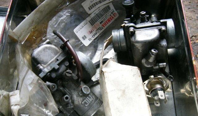 Yamaha RD350LC carbs