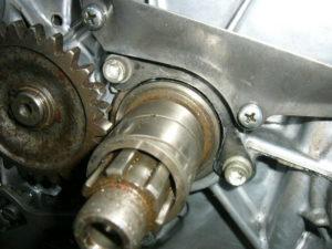 RD350 LC kickstart shaft