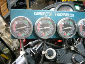Honda CBR600KF carb synchronising