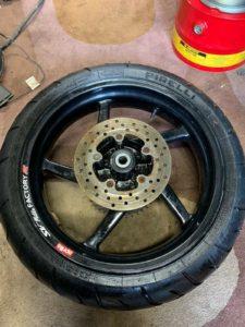 Aprilia RS125 manky wheel
