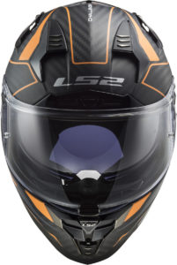 Colourful carbon from LS2 Helmets