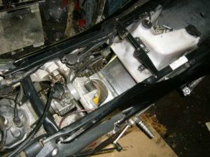 Aprilia RS125 painted rear subframe