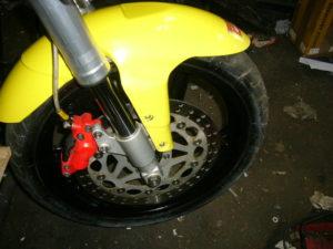 Aprilia RS125 front end