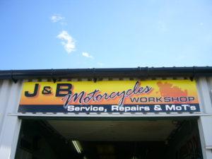 J&B Motorcycles workshop in Boston