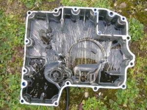 Yamaha Thundercat engine sump