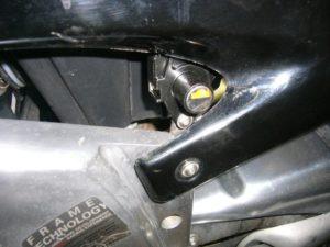 Apilia RS125 seat lock