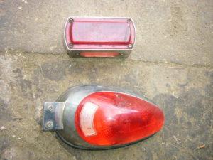 Custom motorcycle tail lights