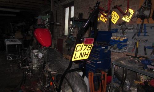 custom motorcycle sissy bar