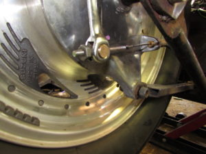 motorcycle custom rear brake set up