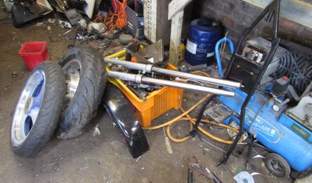 Custom bike project - stripping