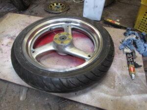 Junkyard Dog custom chopper front wheel