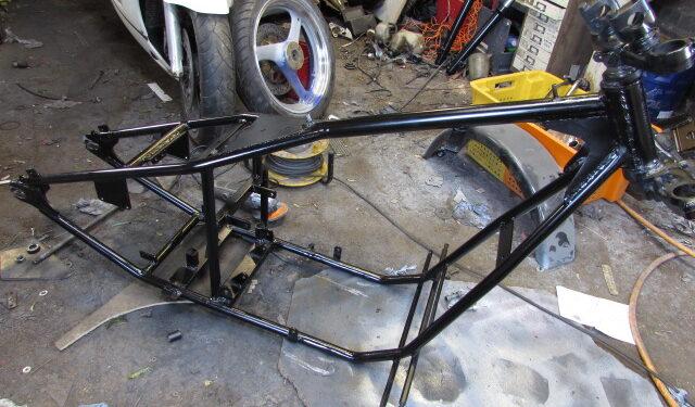 Custom bike powder coated frame