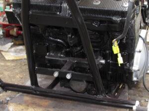 Junkyard Dog custom chopper engine mounts