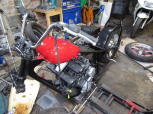 Junkyard Dog custom chopper front end