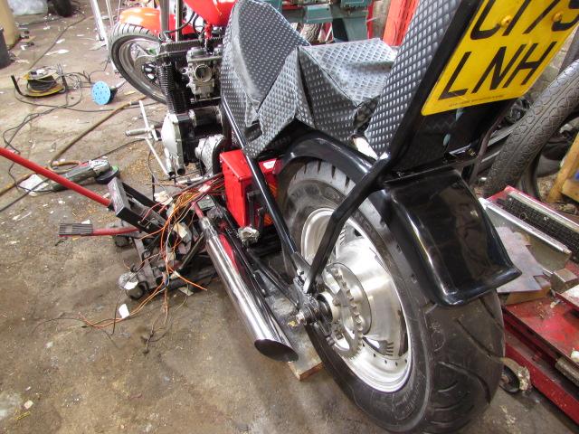 Junkyard custom bike seat