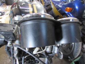 Triumph T300 cafe racer instrument cover