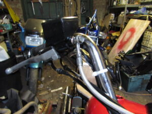 Junkyard Dog Custom Bike front brake master cylinder