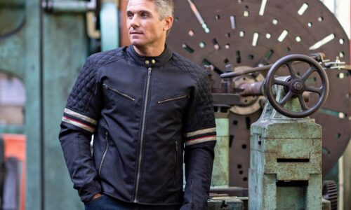 New from Weise for 2020, the Michigan is a waterproof textile jacket with retro looks