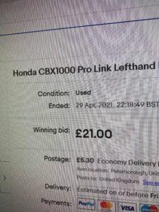 ebay Honda CBX1000 Footrest