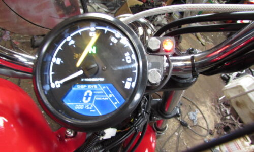 custom bike multi function instrument