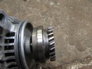 damaged alternator gear