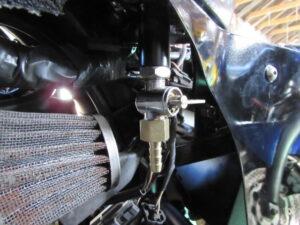 custom bike fuel tap arrangement
