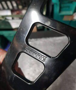 Suzuki GSXR1000 K5 Harris alloy exhaust mounting bracket