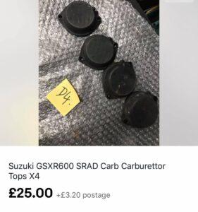 Suzuki GSX-R600 SRAD carbs