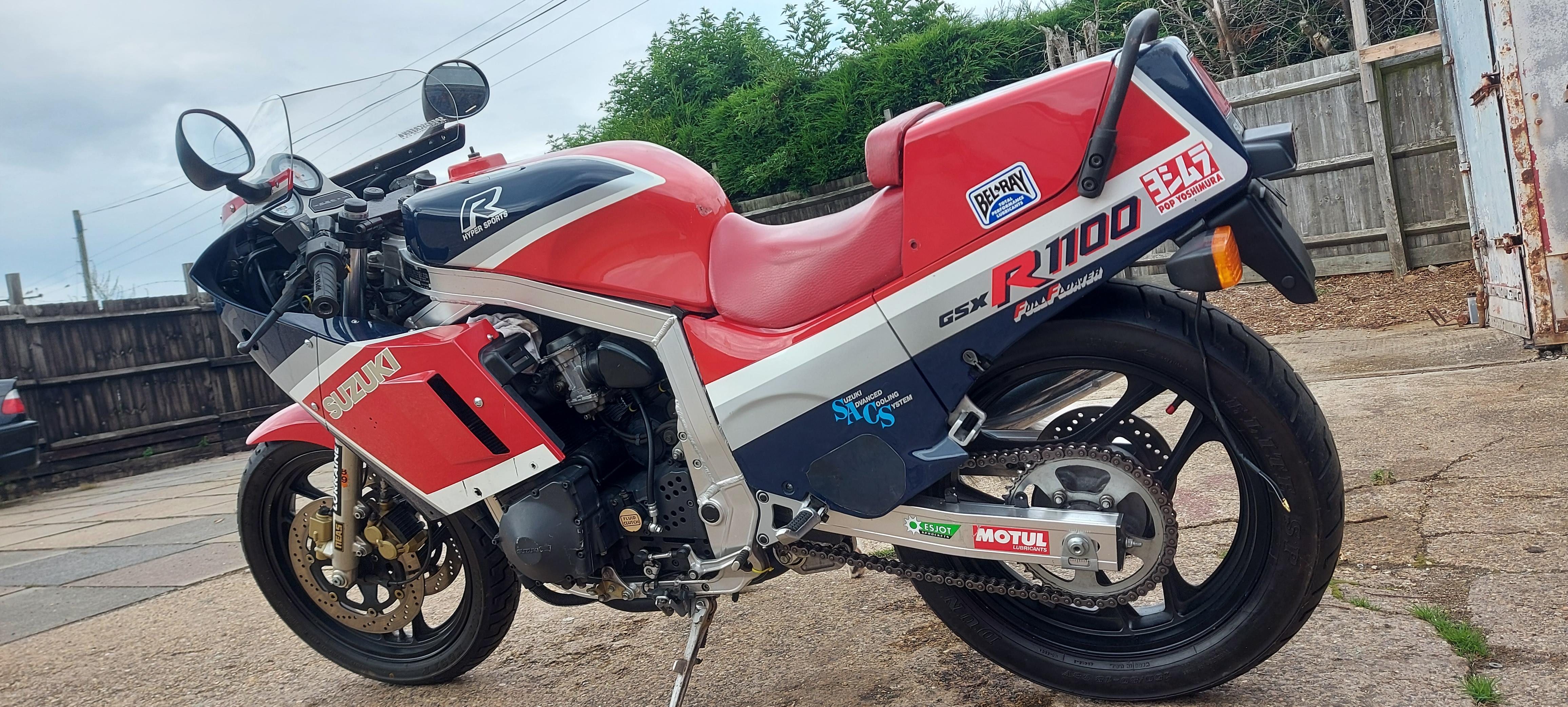 1986 Suzuki GSX-R1100 Slabside
