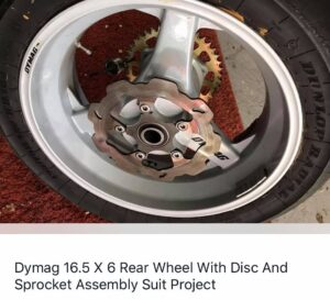 Dymag race rear wheel